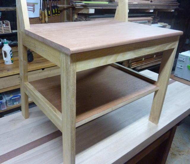 Chaise porte-serviette + tiroir Chaise13