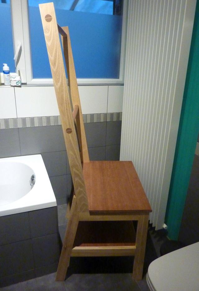 Chaise porte-serviette + tiroir Chaise16