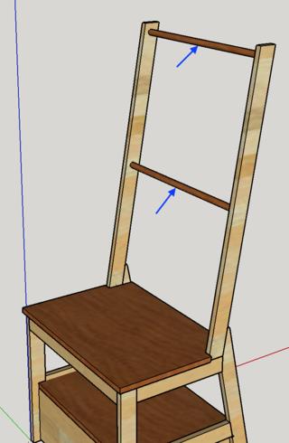 Chaise porte-serviette + tiroir Plan11