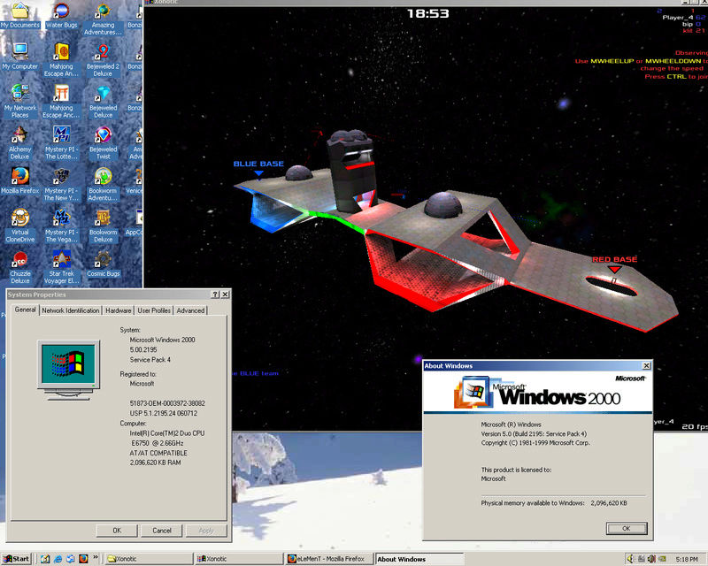 Xonotic on Windows 2000! Untitl10