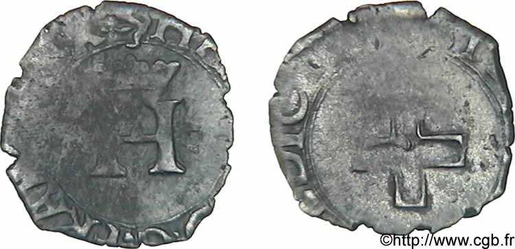 HENRI II Liard à l'H couronnée et à la croisette n.d. Aix-en-Provence. V12_0210