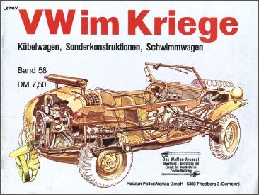 VW im Krieg. Kubelwagen, sonderkonstruktionen, Schwimmwagen. Sans_t29