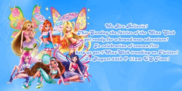 Help Us Get #WinxClub Trending On Twitter.com This Sunday @ 11am!  Season11