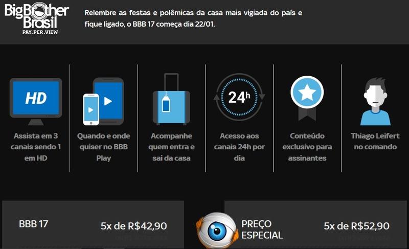 Big Brother Brasil 2017 na SKY Screen15