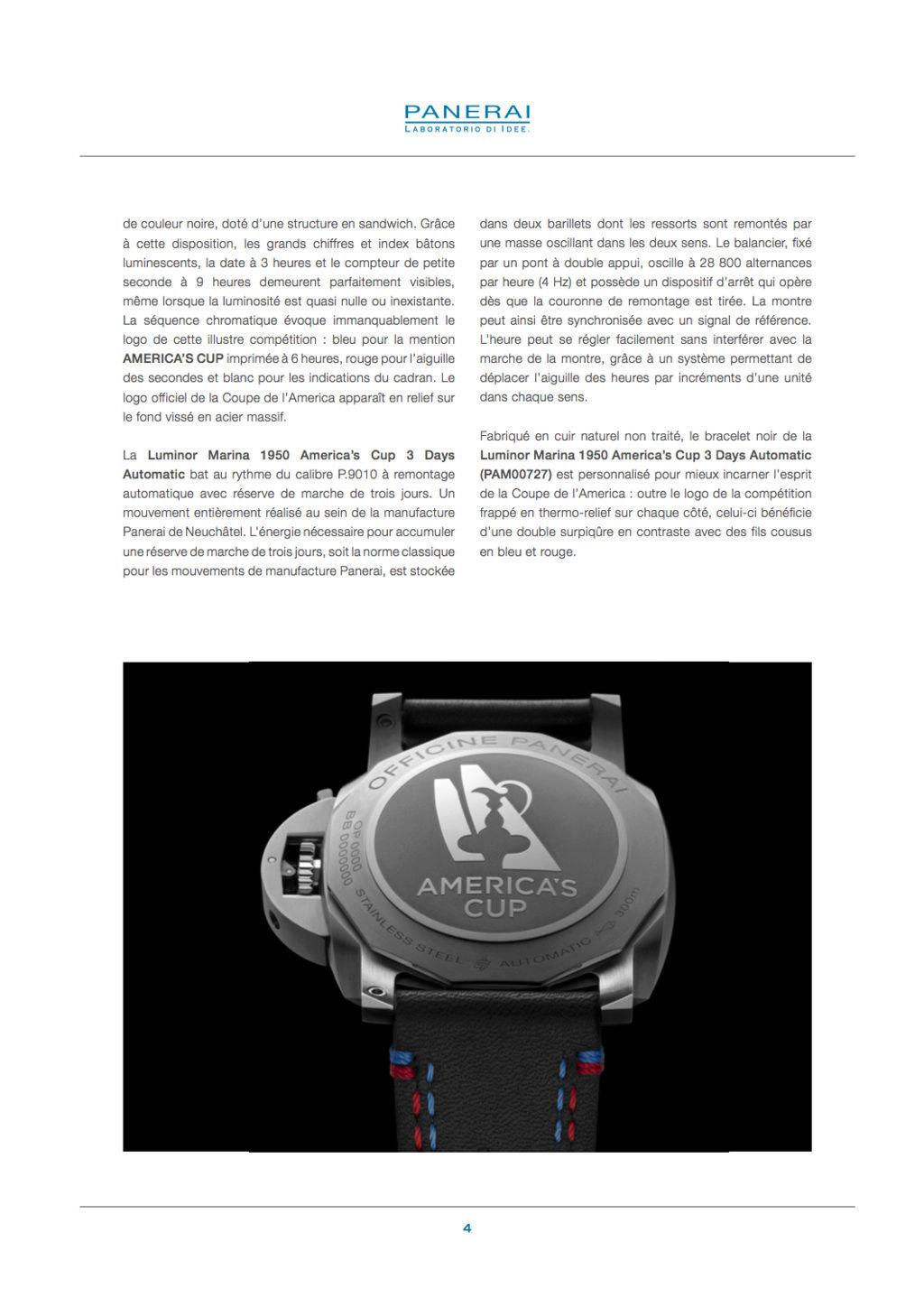 Communiqué de Presse SIHH2017 : Gamme Luminor AMERICA'S CUP - PAM00724-PAM00725-PAM00726-PAM00727-PAM00732 Captur63