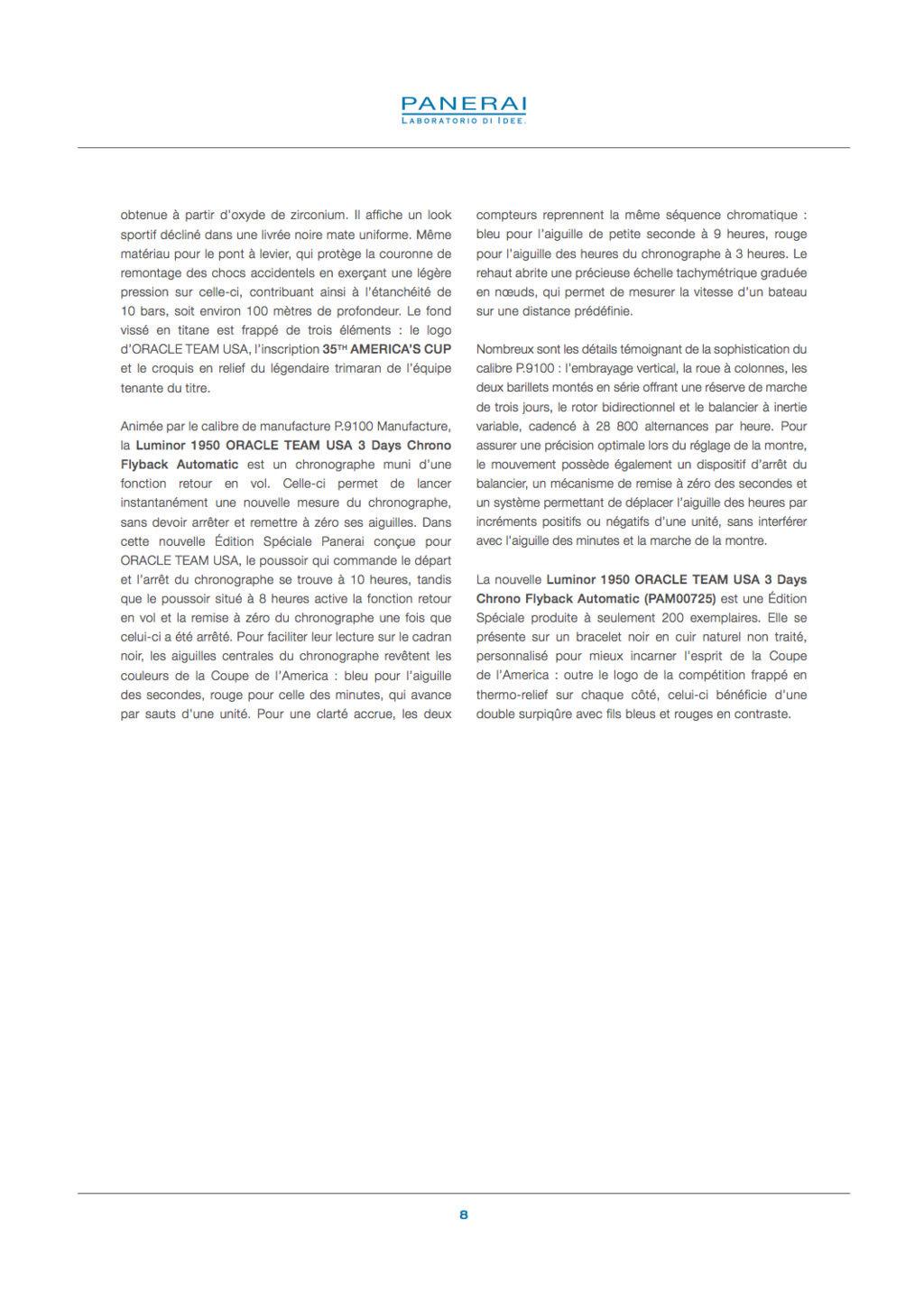Communiqué de Presse SIHH2017 : Gamme Luminor AMERICA'S CUP - PAM00724-PAM00725-PAM00726-PAM00727-PAM00732 Captur64