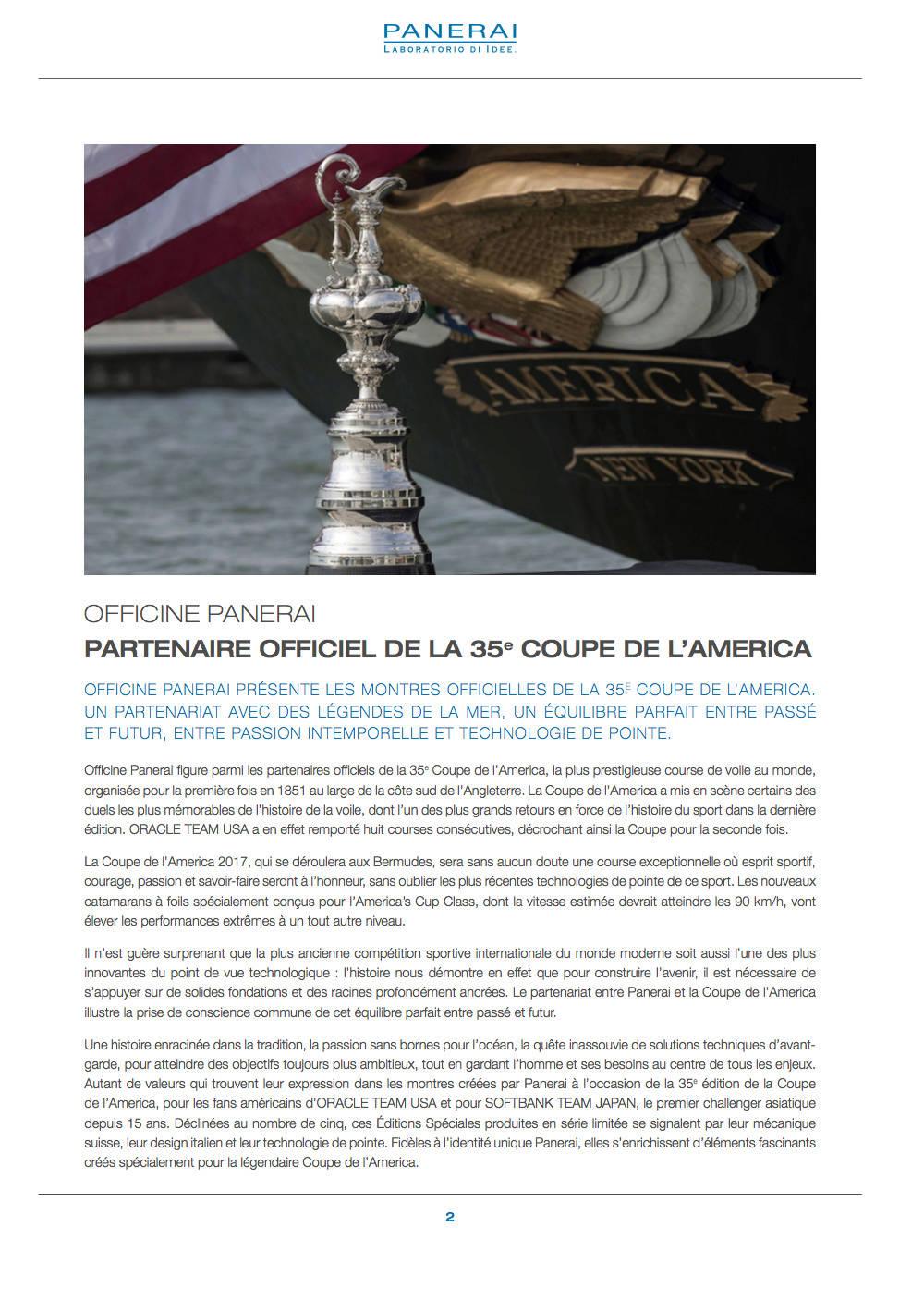 Communiqué de Presse SIHH2017 : Gamme Luminor AMERICA'S CUP - PAM00724-PAM00725-PAM00726-PAM00727-PAM00732 Captur65