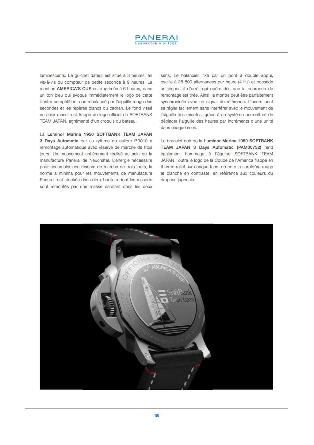Communiqué de Presse SIHH2017 : Gamme Luminor AMERICA'S CUP - PAM00724-PAM00725-PAM00726-PAM00727-PAM00732 Captur77