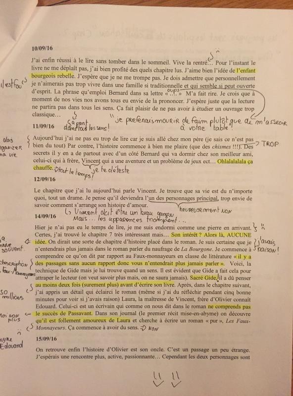Le programme de Terminale Littéraire en littérature 2016-2017 : Journal des Faux-Monnayeurs, Les Faux-Monnayeurs (Gide) ;  Oedipe-Roi (Sophocle, Pasolini)   - Page 5 Img_6312