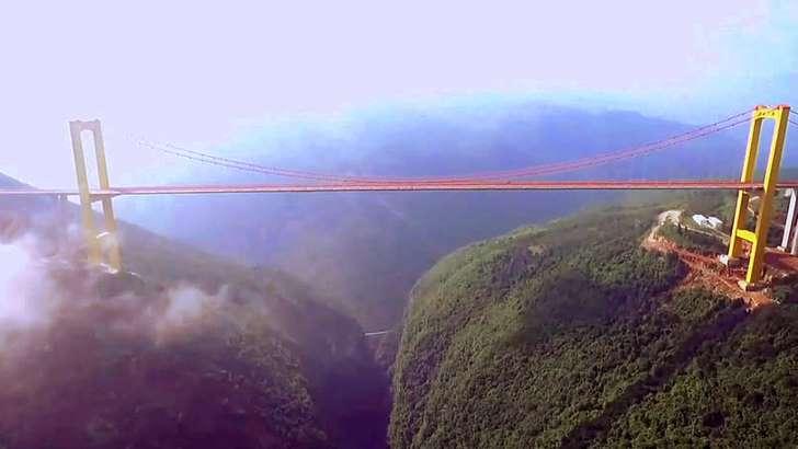 Pont du Beipanjiang, le plus grand pont du monde est en Chine Aalqcr10