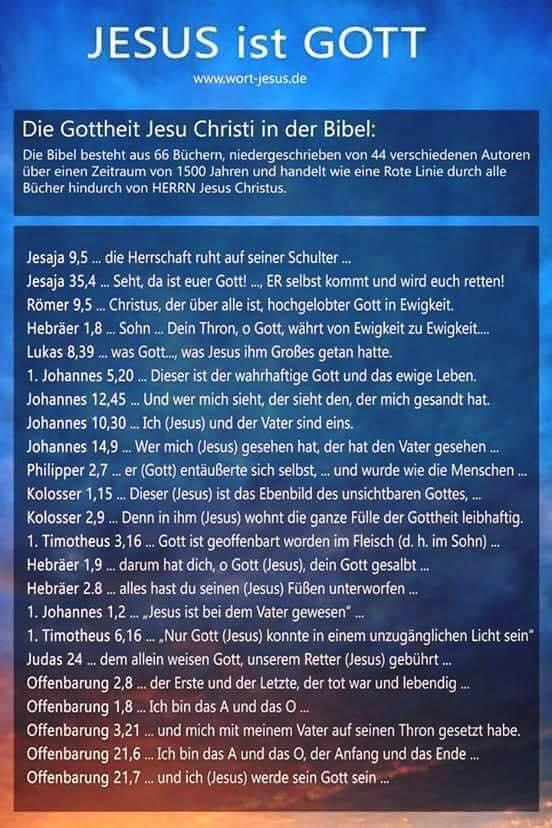 """Zur Behauptung: """"Jesus ist Gott"""" - die Gottheit Jesu Christi in der Bibel lt. Christentum Jesus_11"""