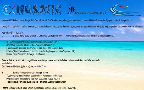 Event biota laut Indofishclub bersama NUSATIC Topik_10