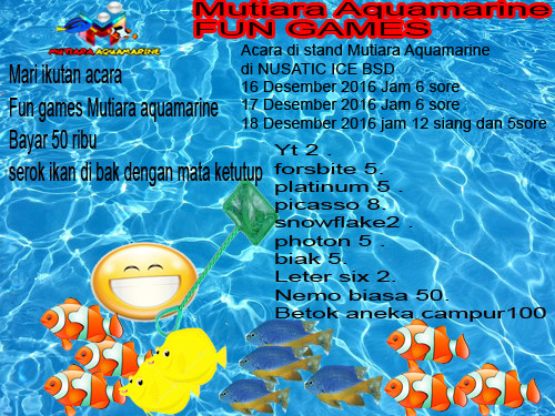 Event biota laut Indofishclub bersama NUSATIC Water-10