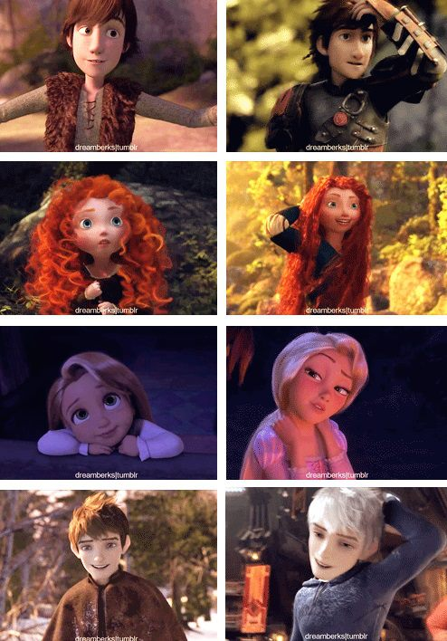(Fan art) Merida, Rapunzel, Jack et Hiccup - The Big Four 10