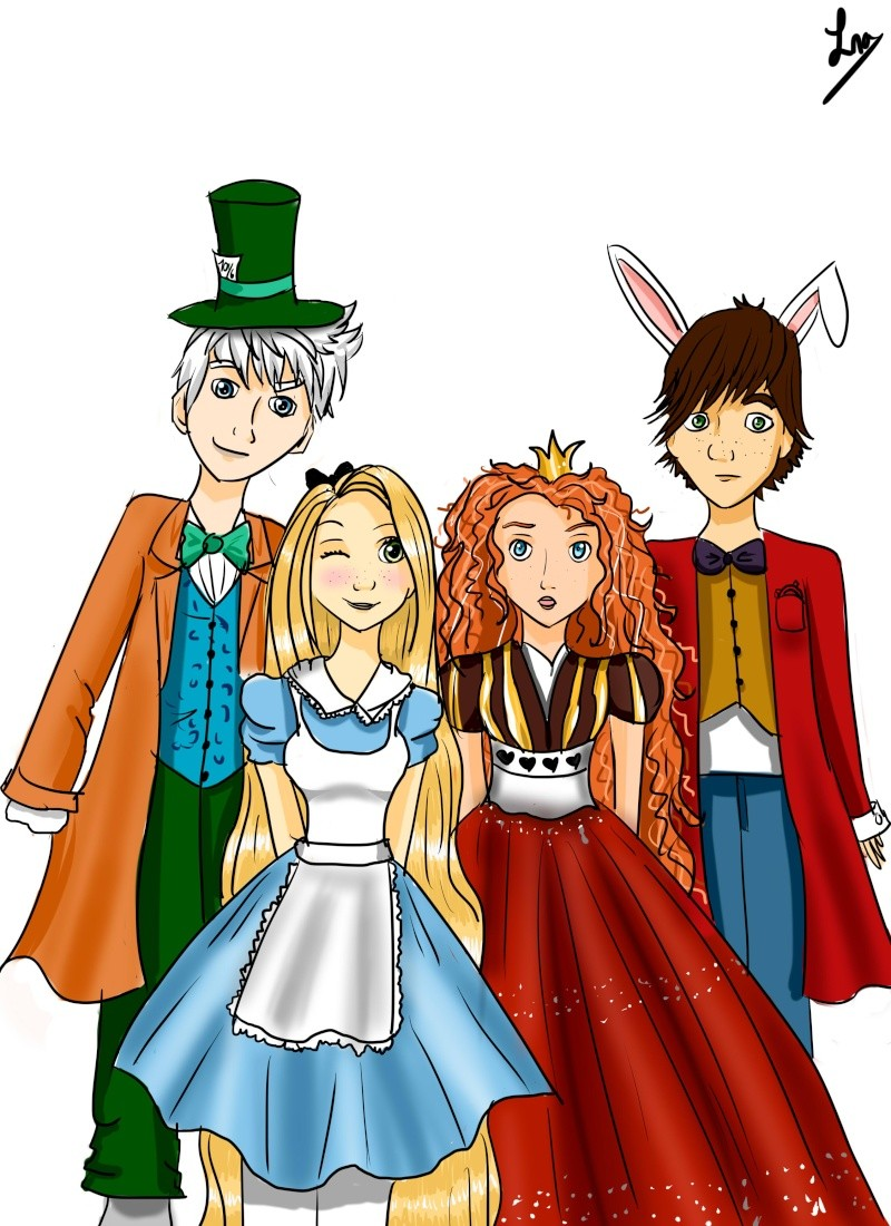 (Fan art) Merida, Rapunzel, Jack et Hiccup - The Big Four Img_211