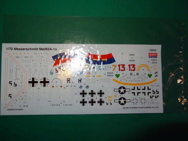 [ACADEMY] MESSERSCHMITT Me 262 A-1A 1/72ème Réf 12410 000_ac12