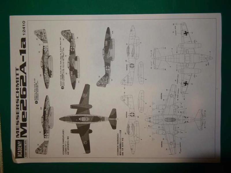 [ACADEMY] MESSERSCHMITT Me 262 A-1A 1/72ème Réf 12410 000_ac17