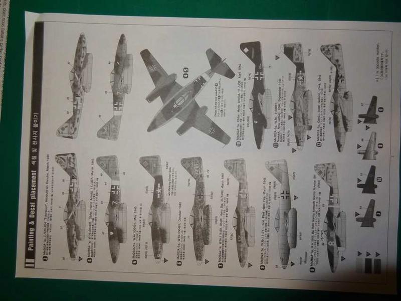 [ACADEMY] MESSERSCHMITT Me 262 A-1A 1/72ème Réf 12410 000_ac18