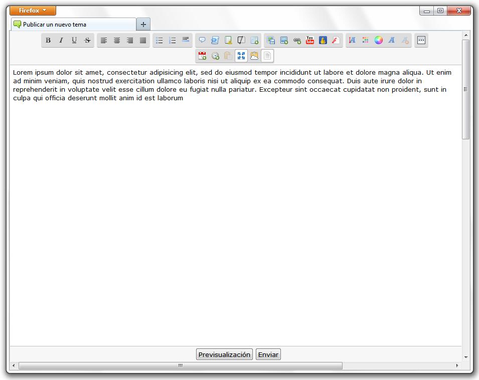 Botón para maximizar el editor de texto Maxi10