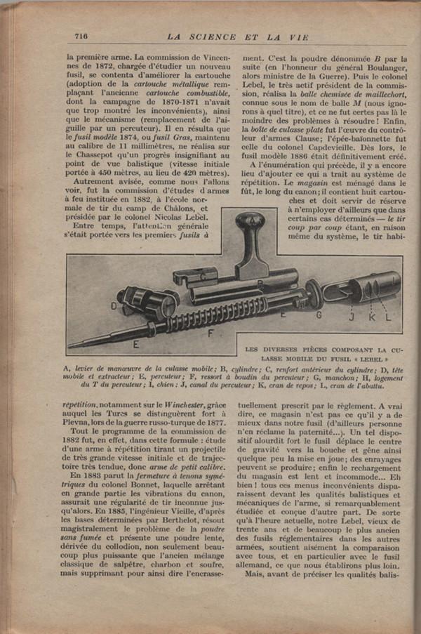 Les armes portatives des troupes en campagne en 1915 71610