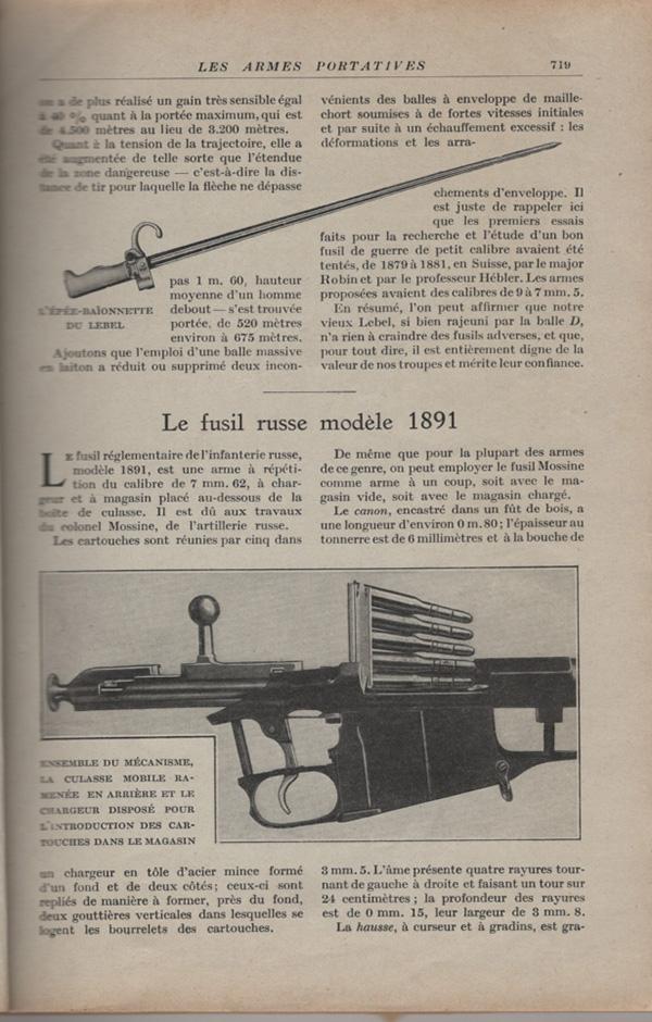 Les armes portatives des troupes en campagne en 1915 71910