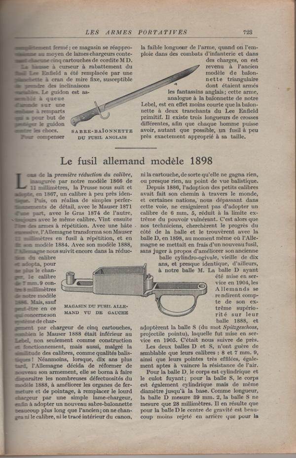 Les armes portatives des troupes en campagne en 1915 72310