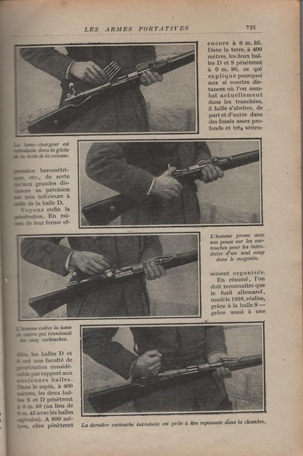 Les armes portatives des troupes en campagne en 1915 72510