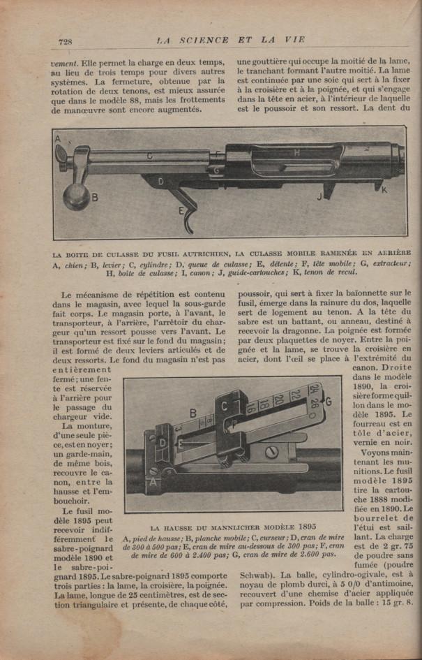 Les armes portatives des troupes en campagne en 1915 72810
