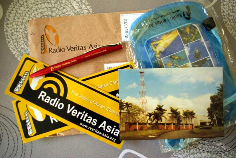 QSL  de radio Veritas Asia - Philippinnes Crbcve10
