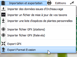 Evasion v9.2.10 Exporter vos données 2016-114