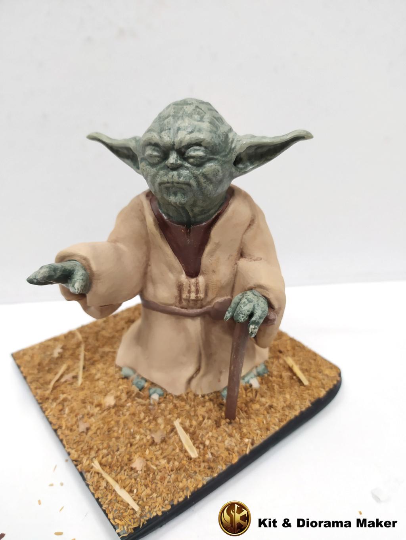 Statue de Yoda imprimée en résine 3D 210