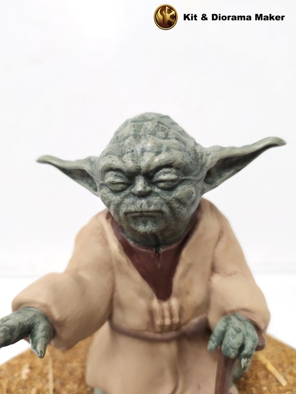Statue de Yoda imprimée en résine 3D 310