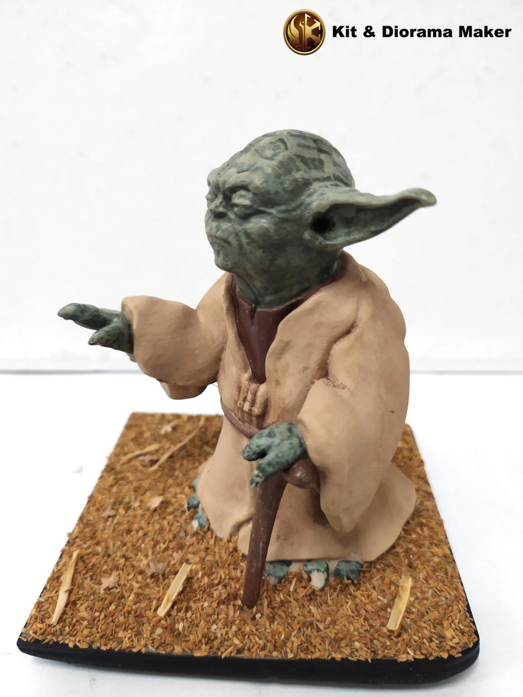 Statue de Yoda imprimée en résine 3D 610
