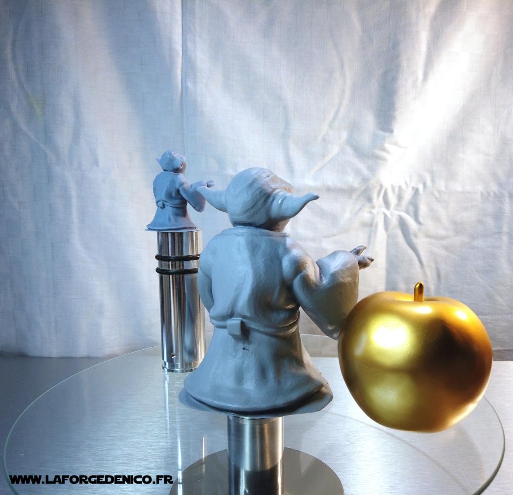 Statue de Yoda imprimée en résine 3D Dji_0025