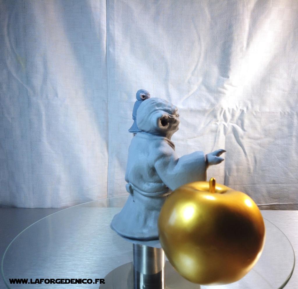 Statue de Yoda imprimée en résine 3D Dji_0026