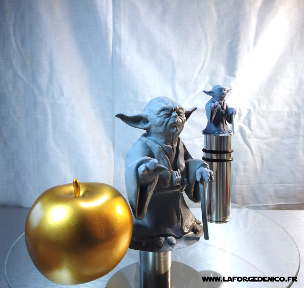 Statue de Yoda imprimée en résine 3D Dji_0028