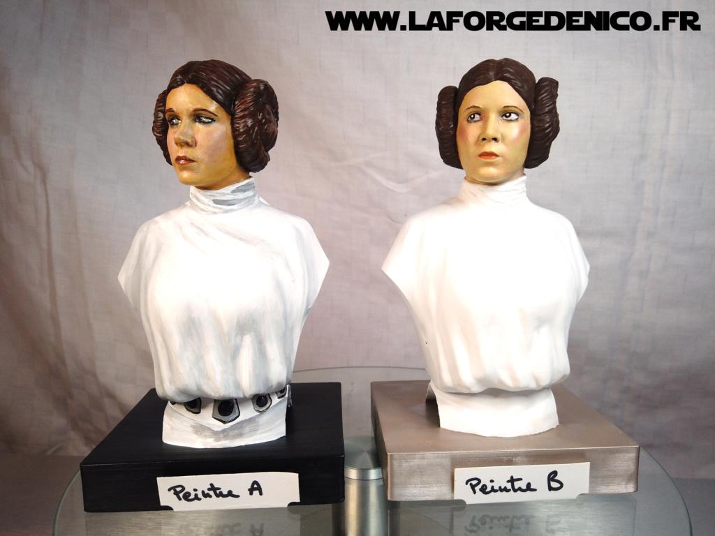Buste de la Princesse Leia - 2 peintres / 2 techniques Dji_0335