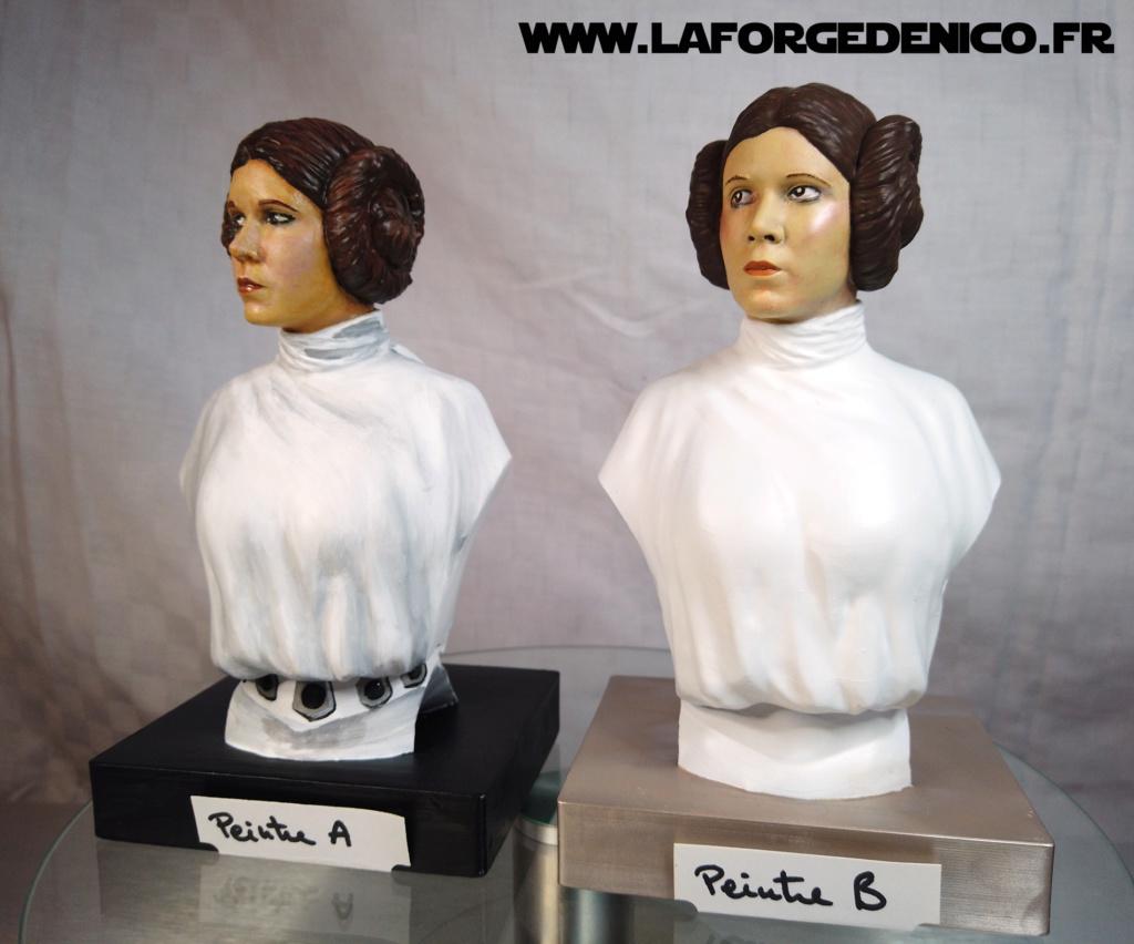 Buste de la Princesse Leia - 2 peintres / 2 techniques Dji_0336