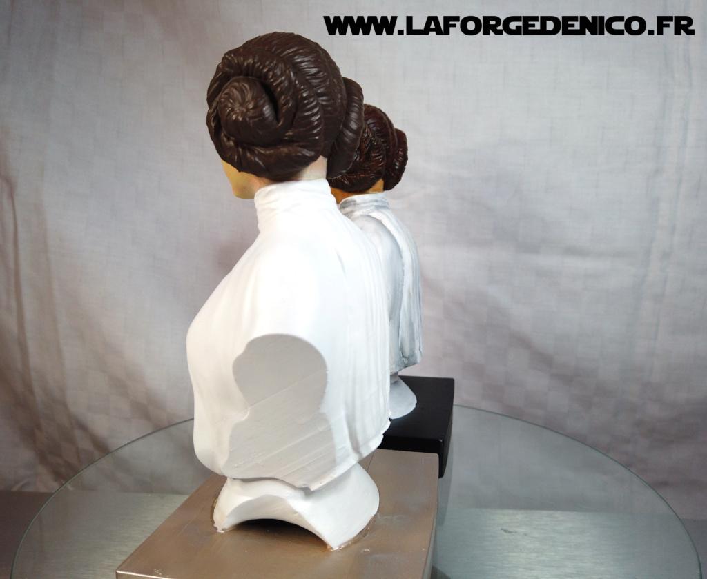 Buste de la Princesse Leia - 2 peintres / 2 techniques Dji_0340