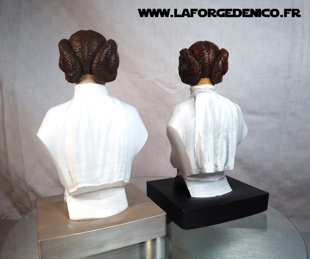 Buste de la Princesse Leia - 2 peintres / 2 techniques Dji_0342
