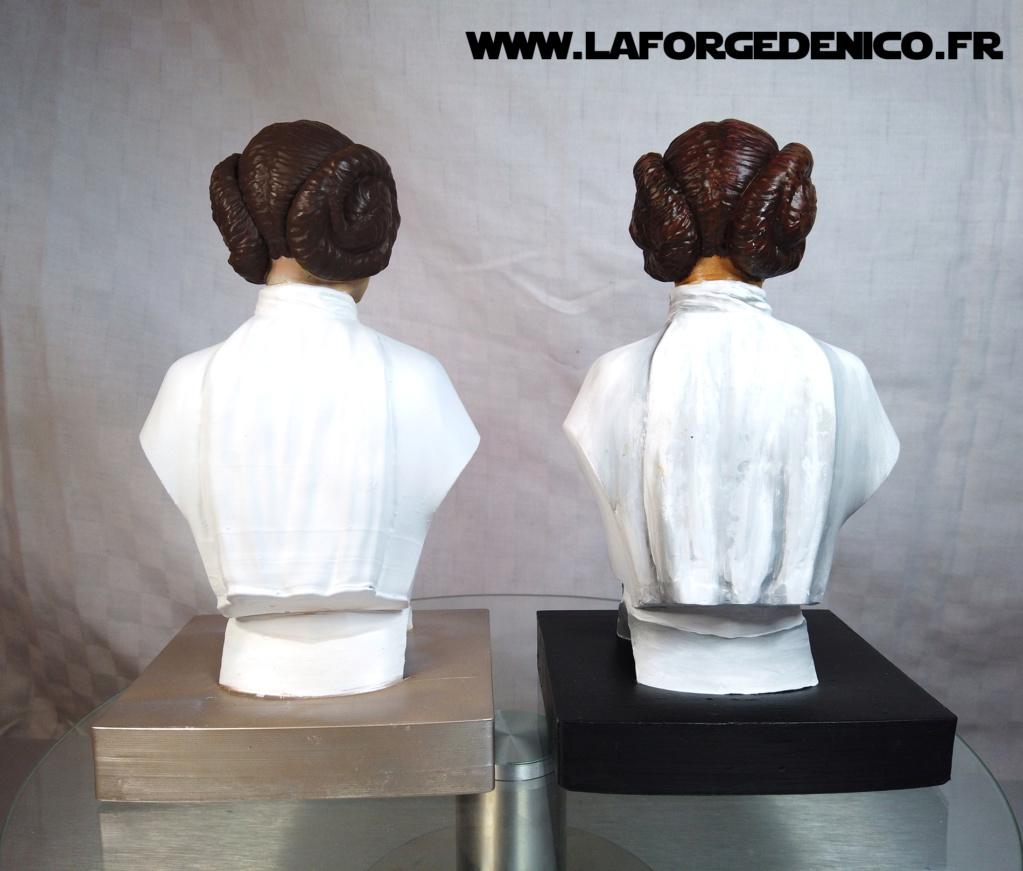 Buste de la Princesse Leia - 2 peintres / 2 techniques Dji_0343
