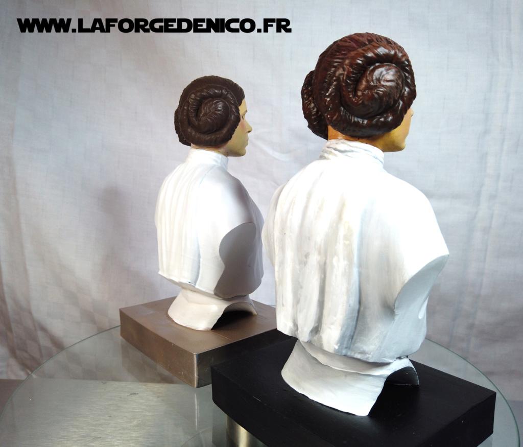Buste de la Princesse Leia - 2 peintres / 2 techniques Dji_0345