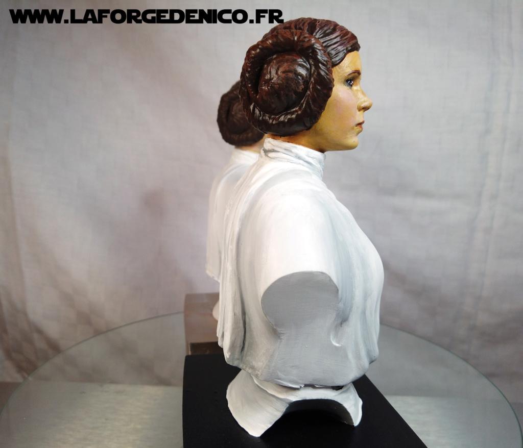 Buste de la Princesse Leia - 2 peintres / 2 techniques Dji_0346