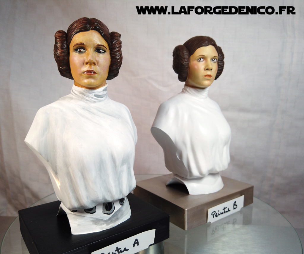 Buste de la Princesse Leia - 2 peintres / 2 techniques Dji_0348