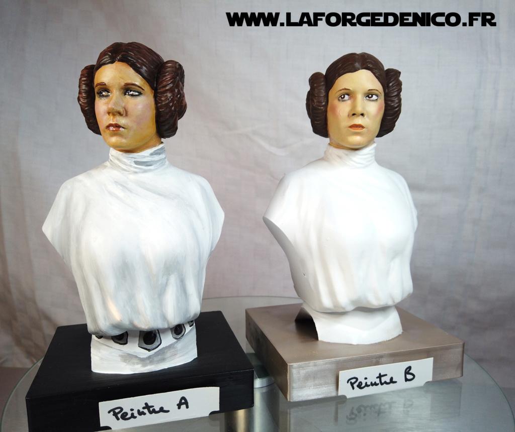 Buste de la Princesse Leia - 2 peintres / 2 techniques Dji_0349