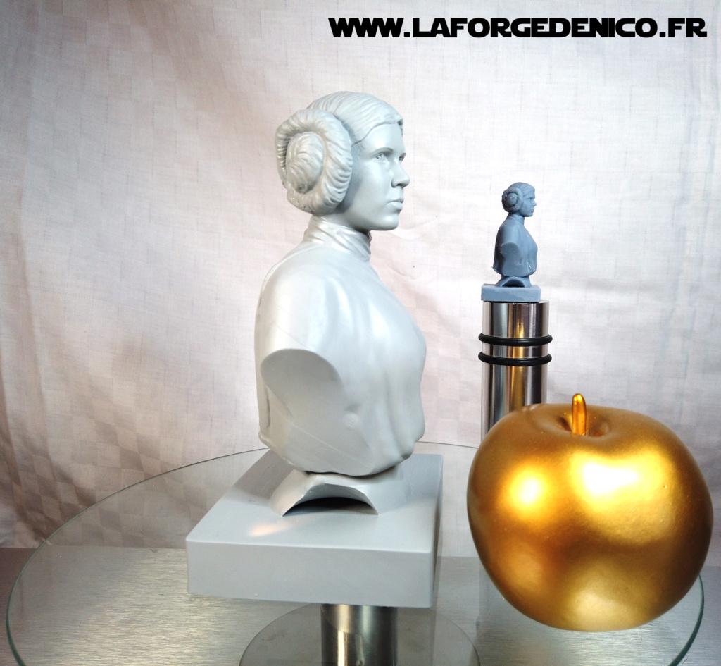 Buste de la Princesse Leia - 2 peintres / 2 techniques Dji_0417