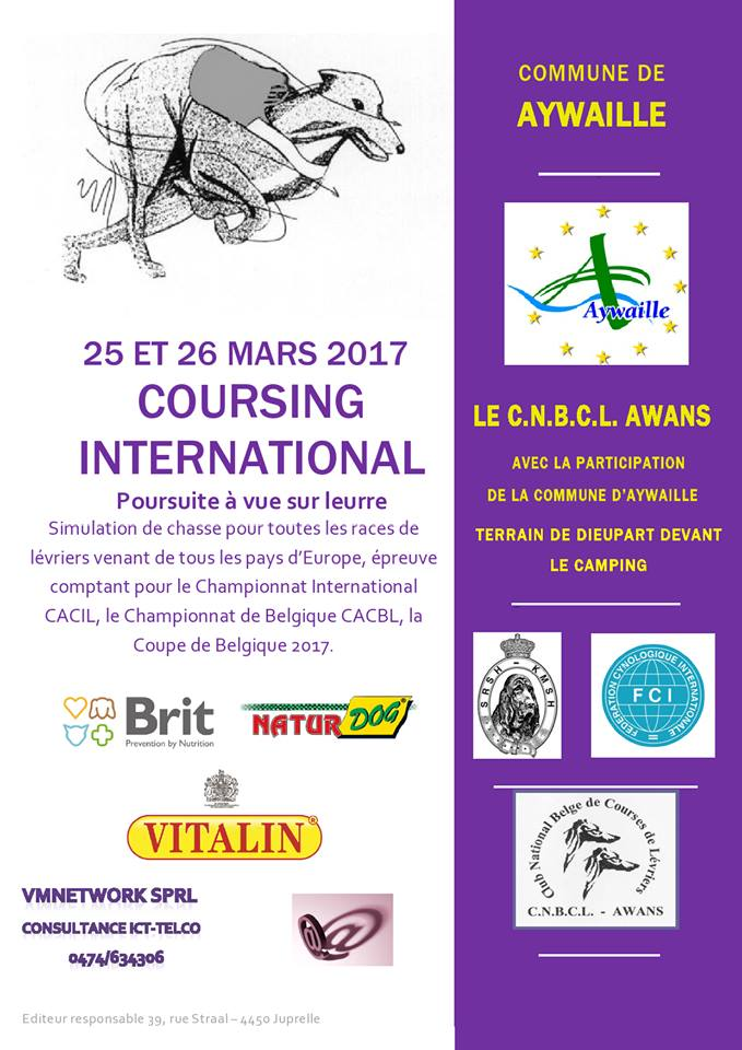 Coursing CACIL Aywaille 25 et 26 mars 16406810