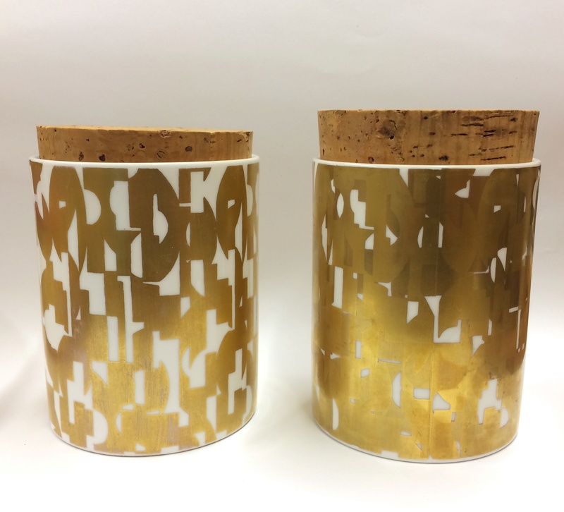Pair of Grille storage jars - Designer Colin Haxby Img_9911