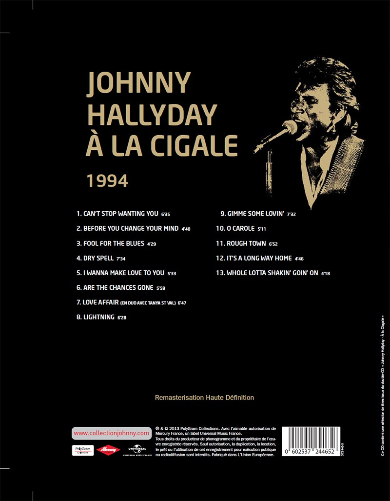 Volume 65 Johnny à La Cigale 1994 Jhcoll29