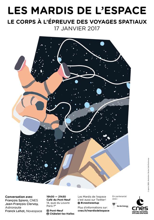 17 janvier 2017 - Conférence (les mardis de l'espace) - Le corps à l'épreuve des voyages spatiaux Is-mar12